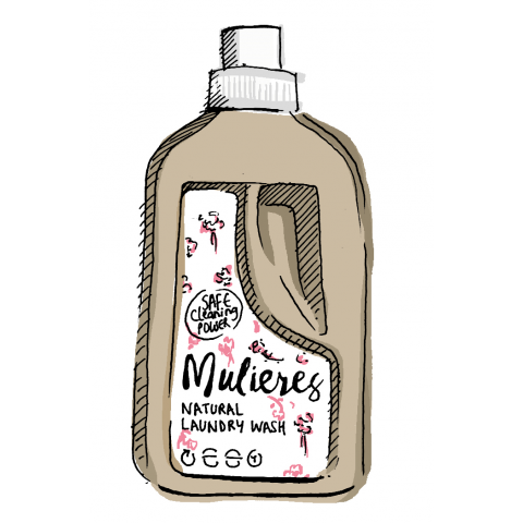 Mulieres - Natural Concentrated Laundry Wash - Rose Garden - 1,5 L