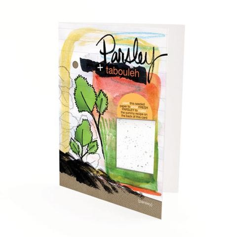Botanical Paperworks - Plantable Paper Yummy Gift Card - Parsley & Tabouleh