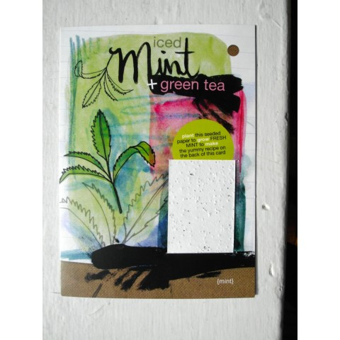 Botanical Paperworks - Plantable Paper Yummy Gift Card - Iced Mint & Green Tea
